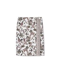 Tory Burch - Brown Mikado Wrap Skirt - Lyst