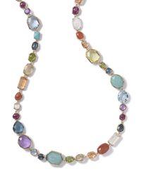 Ippolita - Blue Multi-stone Single-strand Necklace In Summer Rainbow - Lyst