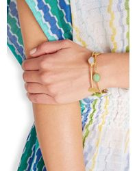 Ashiana | Metallic Mia 22Kt Gold-Plated Bracelet | Lyst