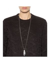 Givenchy Metallic Rock Crystal-embellished Necklace