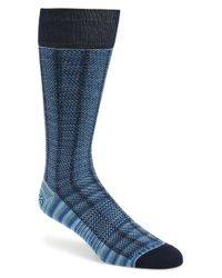 Hook + Albert | Blue Herringbone Socks for Men | Lyst