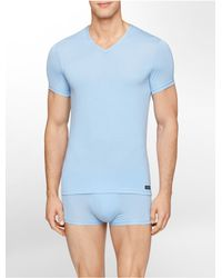 Calvin Klein | Blue Underwear Body Modal V-neck T-shirt for Men | Lyst