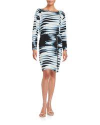 Ivanka Trump Black Tie-dyed Shift Dress