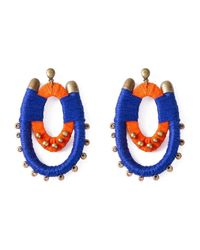 Blue Man | Blue Bicolor Earrings | Lyst