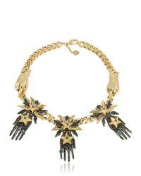 Schield | Metallic Hands Necklace | Lyst