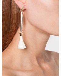 Chloé Metallic Tassel Earrings