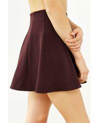 Kimchi Blue Purple Flirt With Me Seamed Skirt