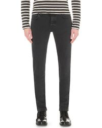 Nudie Jeans - Gray Grim Tim Slim-fit Tapered Jeans for Men - Lyst