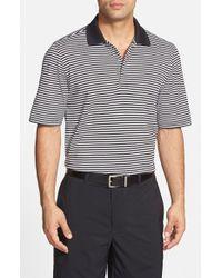 Bobby Jones | Black 'Flag Stripe' Tailored Fit Pima Cotton Golf Polo for Men | Lyst