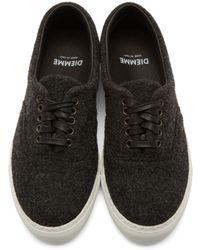 Diemme Gray Grey Felted Wool Low_top Iseo Sneakers for men