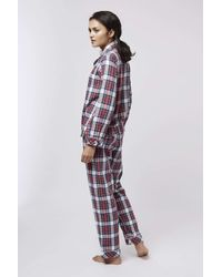 TOPSHOP | Red Check Pyjama Set | Lyst