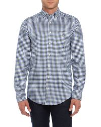 GANT | Green Gingham Twill Classic Shirt for Men | Lyst