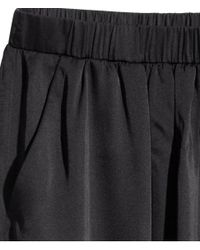 H&M Black Satin Maxi Skirt