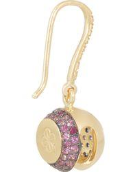 Aurelie Bidermann - Blue 18-karat Gold, Sapphire And Diamond Bell Earrings - Lyst