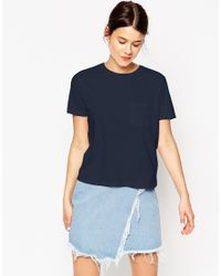 ASOS - Blue The Pocket T-shirt - Lyst