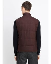 Vince - Purple Super Flannel Vest With Leather Trim for Men - Lyst