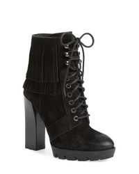 Kenneth Cole - Black Olla Lace-Up Ankle Boots - Lyst