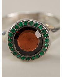 Rosa Maria - Green 'Beril' Ring - Lyst