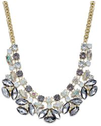 INC International Concepts | Multicolor Gold-tone Multi-stone Statement Necklace | Lyst
