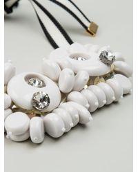 Marni White Chunky Bead Necklace