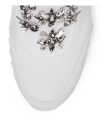 Tory Burch - White Rosas Embellished Sawtooth Slip-on Sneaker - Lyst
