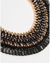 ALDO - Black Brancorsi Statement Collar Necklace - Lyst