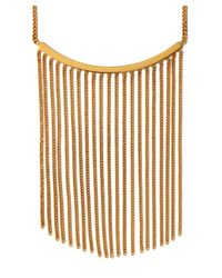 Chloé | Metallic Gold Delfine Fringed Chain Necklace | Lyst