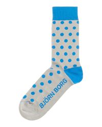 Björn Borg | Blue Spotted Trainer Socks for Men | Lyst