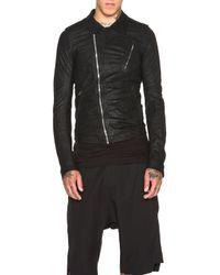 Rick Owens Black Men'S Stooges Biker Leather Jacket