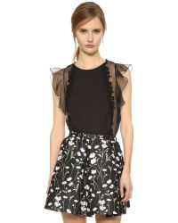 Giambattista Valli | Black Sleeveless Top | Lyst