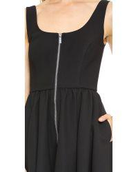 Elizabeth and James Cambelle Zip Front Dress - Black