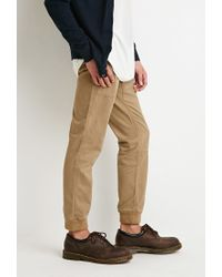 Forever 21   Natural Paneled Chino Joggers for Men   Lyst