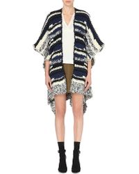 Maje Black Maille Striped Cardigan - For Women