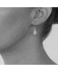 Kinnari - Metallic Gold Small Egg Earrings With Chrysoprase - Lyst