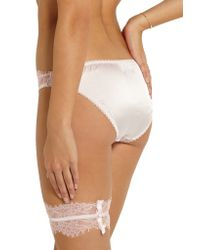 Mimi Holliday by Damaris - Pink Oyster Whippy Satin-trimmed Lace Garter - Lyst