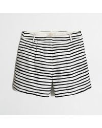 "J.Crew - White Factory 5"" Printed Short With Dolphin Hem - Lyst"