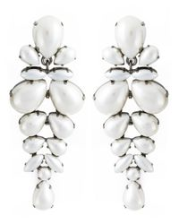 Ermanno Scervino | White Pearl Clip On Earrings | Lyst