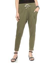 LNA - Gypsy Pants - Army Green - Lyst