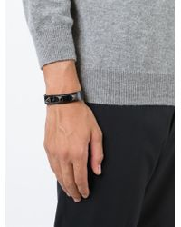 Valentino - Black 'rockstud' Bracelet for Men - Lyst