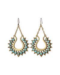 Lucky Brand - Metallic Turquoise Spike Earrings - Lyst