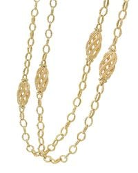 Lagos | Yellow Caviar 18k Gold Station Necklace | Lyst