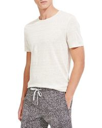 Onia | White 'chad' Stripe Linen T-shirt for Men | Lyst