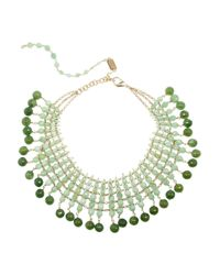 Rosantica - Green Orchidea Golddipped Opal and Agate Necklace - Lyst