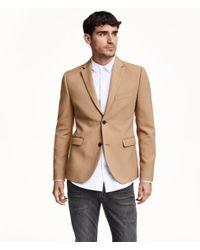 H&M Natural Jacket Slim Fit for men