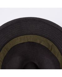 Paul Smith Gray Men's Dark Grey Dip-dyed Wool Trilby Hat for men