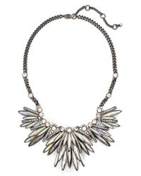 Givenchy - Metallic Crystal Collar Necklace - Hematite - Lyst