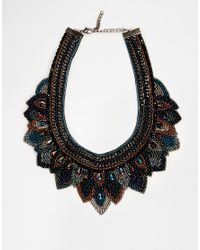 ASOS - Multicolor Midnight Layered Bib Necklace - Lyst