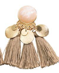 H&M Metallic Earrings With Tassels