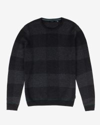 Ted Baker - Gray Checked Sweater for Men - Lyst