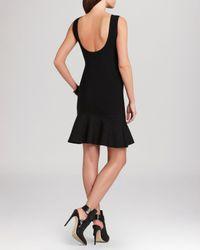 BCBGMAXAZRIA Black Padma Flare Dress